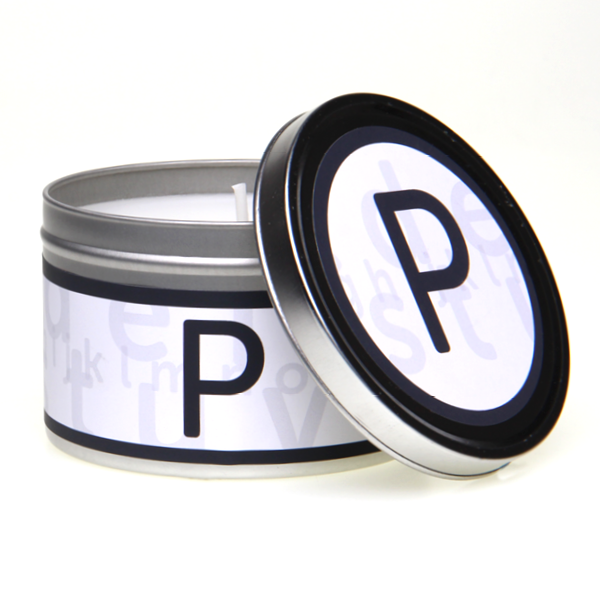 In-Scents Personalised In-itial Alphabet Letter P Gift Tin Candle - Various Scents