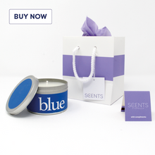 Rainbow Gift Tin Candle Range - Blue - Various Scents