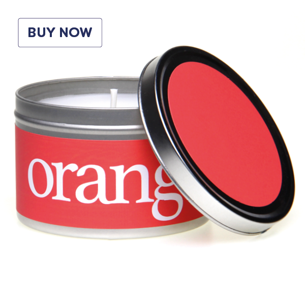 Rainbow Gift Tin Candle Range - Orange - Various Scents