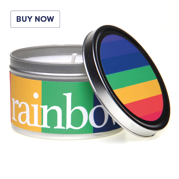 Rainbow Gift Tin Candle Range - Rainbow - Various Scents
