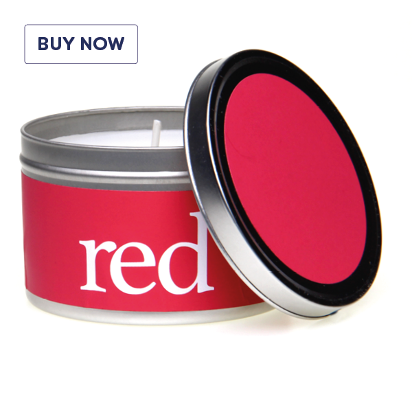Rainbow Gift Tin Candle Range - Red - Various Scents
