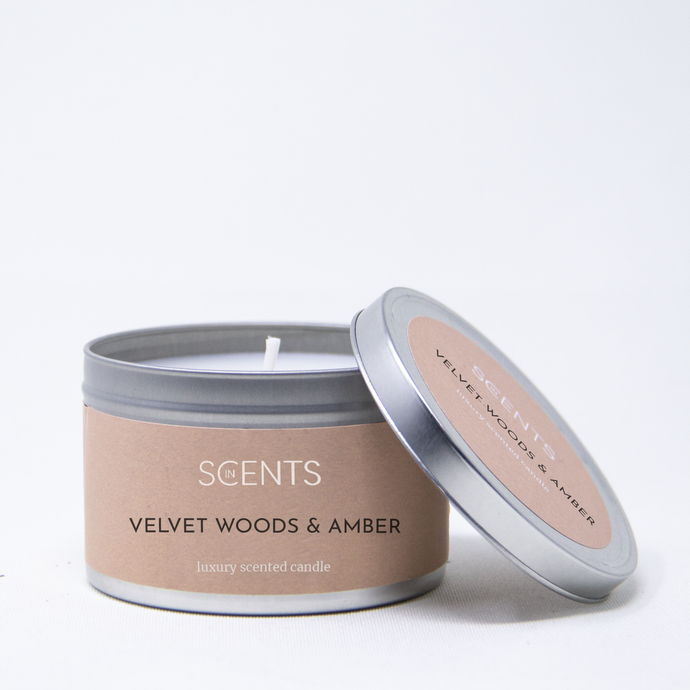 Classic Tin Candle - Velvet Woods & Amber