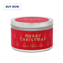 Orange + Lemon Citrus Christmas Scented Candle