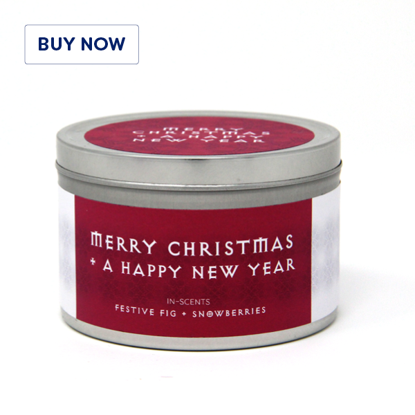 Festive Fig + Snowberries Christmas Scented Candle
