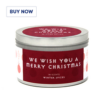 Winter Spices Christmas Scented Candle