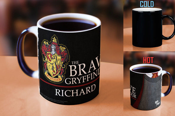 Hogwarts House Magic Mug with YOUR Personalized Name