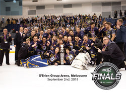 CBR Brave 2018 AIHL Champions Team Celebration Photo
