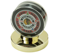 Gold Base Hockey Puck Holder
