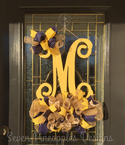 Single Letter Monogram Door Hanger