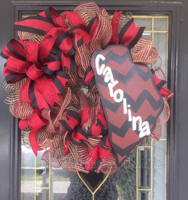 South Carolina Gamecocks Wreath