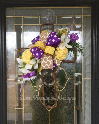 Spring Easter Cross Door Hanger