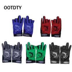 Anti-slip 3 Cut Finger Fishing Gloves