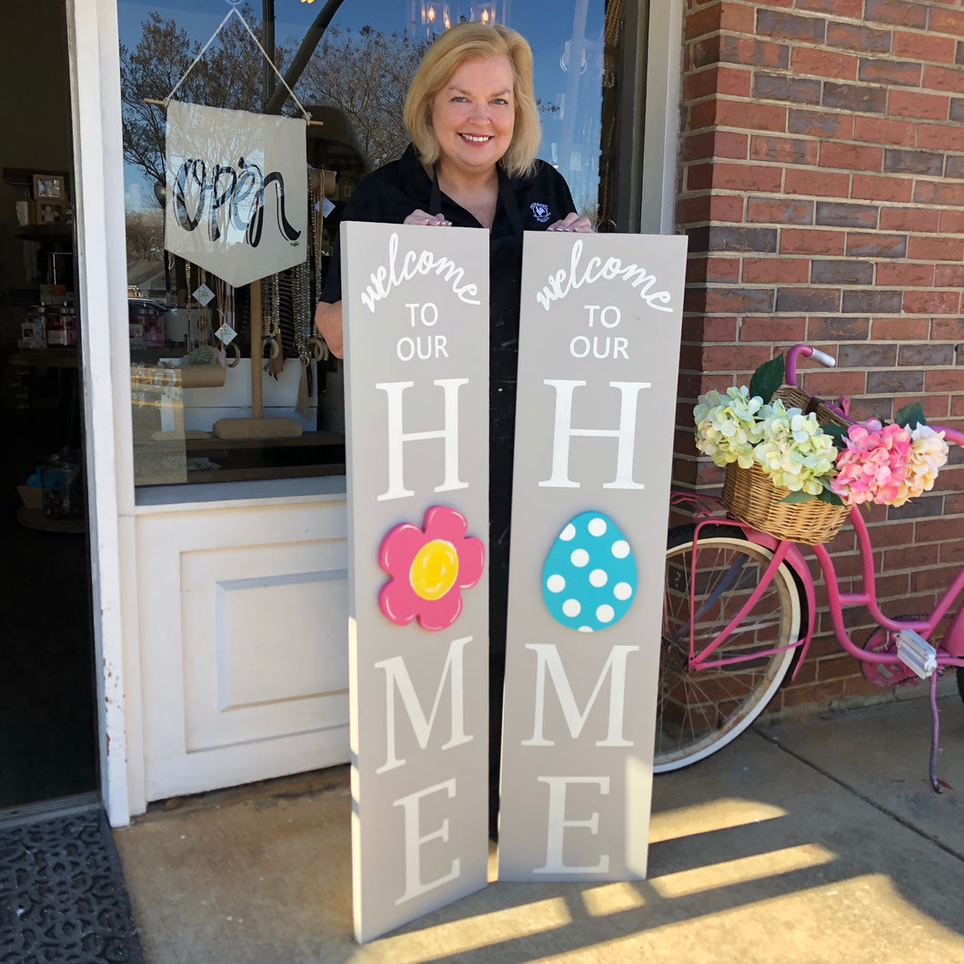 4ft interchangeable HOME sign