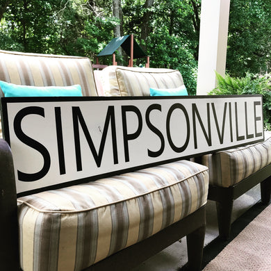 Large farmhouse style sign
