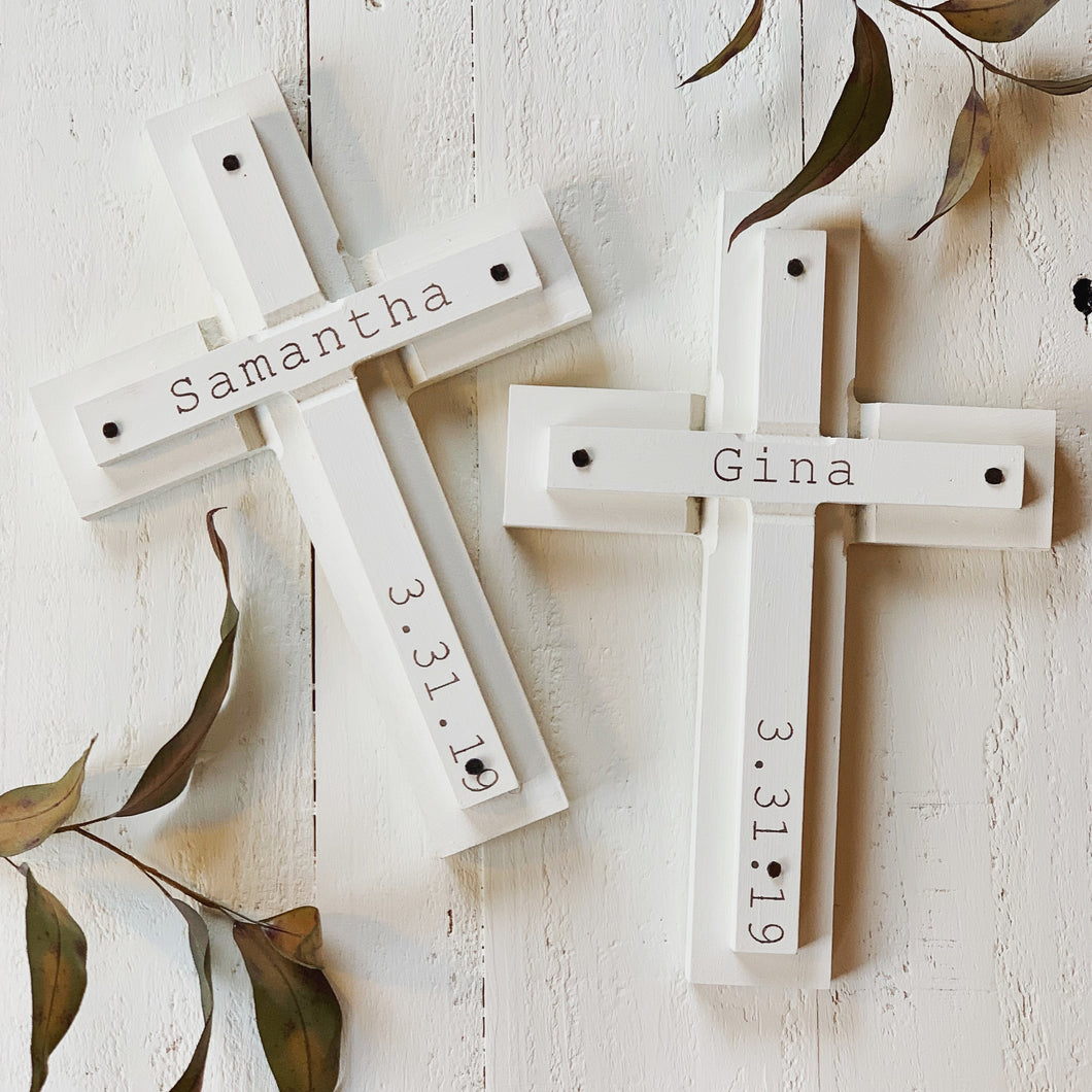 Confirmation/Baptism cross personalized