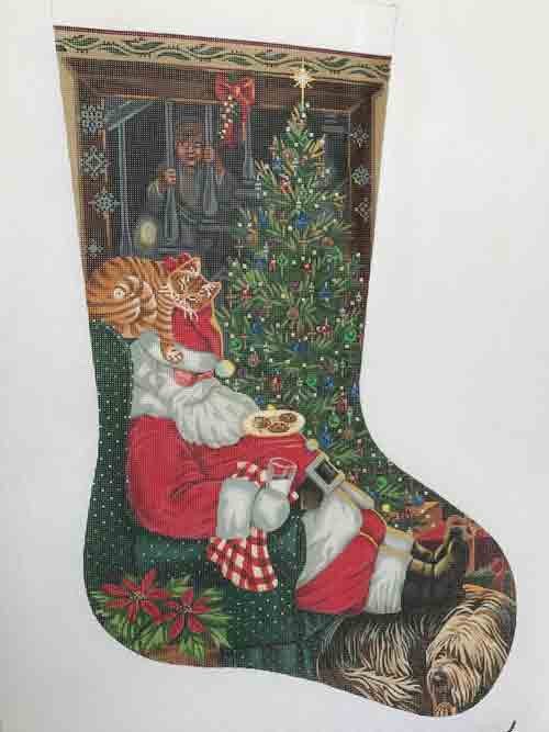 Tapestry Tent Milk/Cookie Break Christmas Stocking