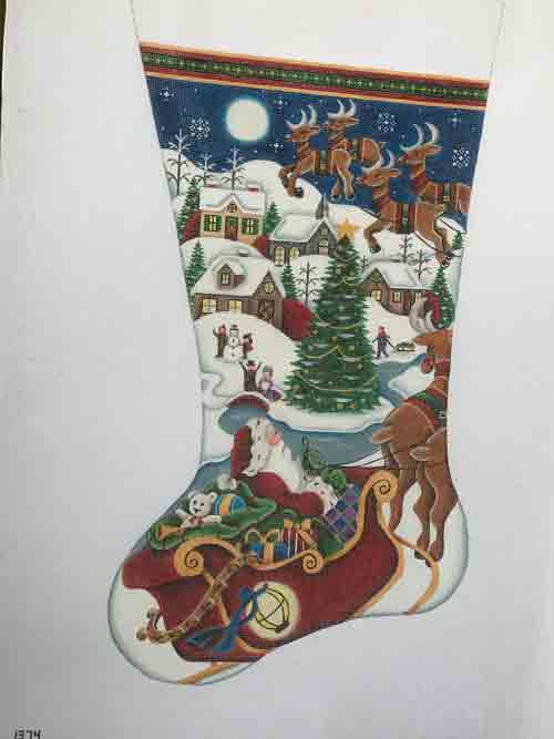 Rebecca Village Christmas Stocking