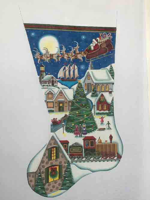Rebecca Here Comes Santa Christmas Stocking