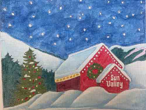 Sun Valley Exclusives Barn in Winter Canvas