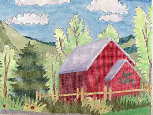 Sun Valley Exclusives Barn in Summer Canvas