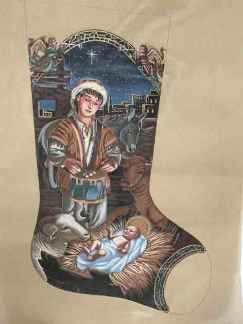Tapestry Tent The Little Drummer Boy Christmas Stocking