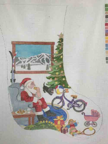 Sun Valley Needle Arts Santa/Baldy Christmas Stocking