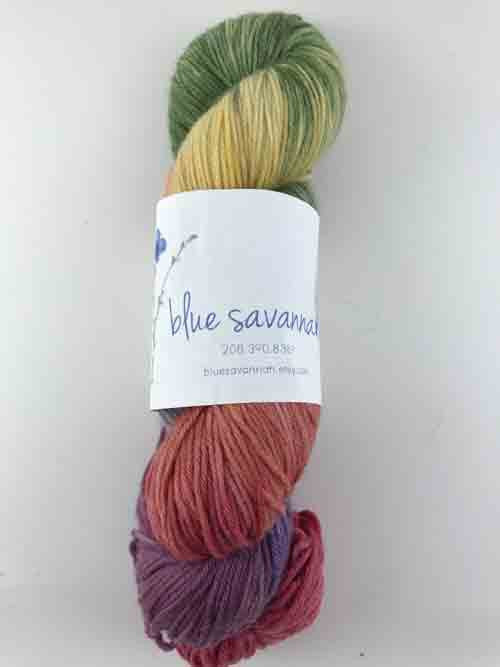 Blue Savannah Macaroon Rainbow Yarn