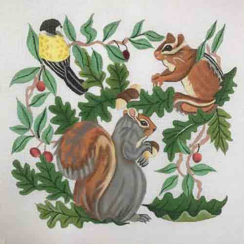 Susan Roberts Squirrel, Chipmunk,Bird Canvas