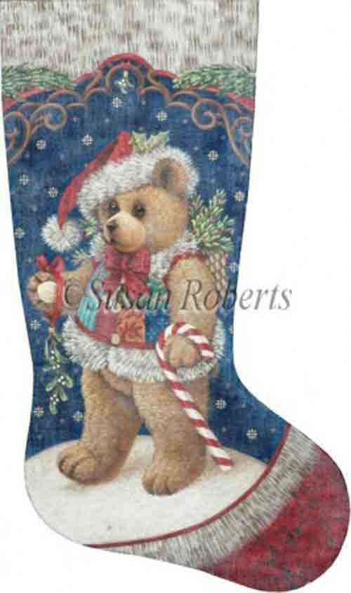 Tapestry Tent Patchwork Teddy Christmas Stocking