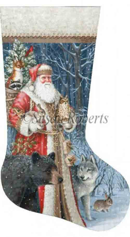 Tapestry Tent Woodland Territorial Santa Stocking