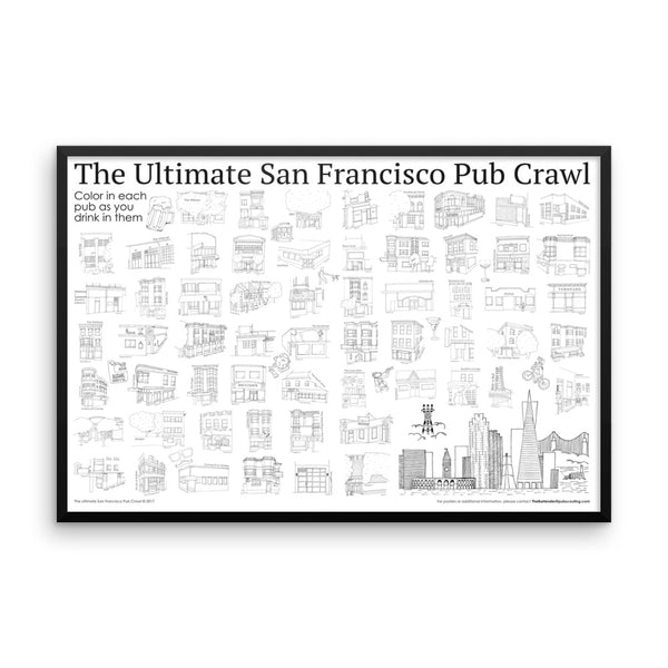 Ultimate San Francisco Pub Crawl (FRAMED)