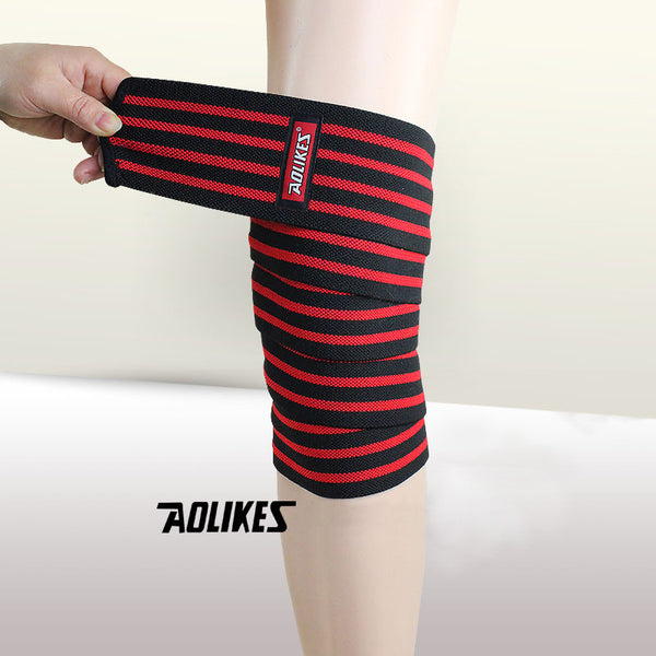 "Aolikes® Spartan Lifting Knee Wraps (71""/180cm) - 2pcs"