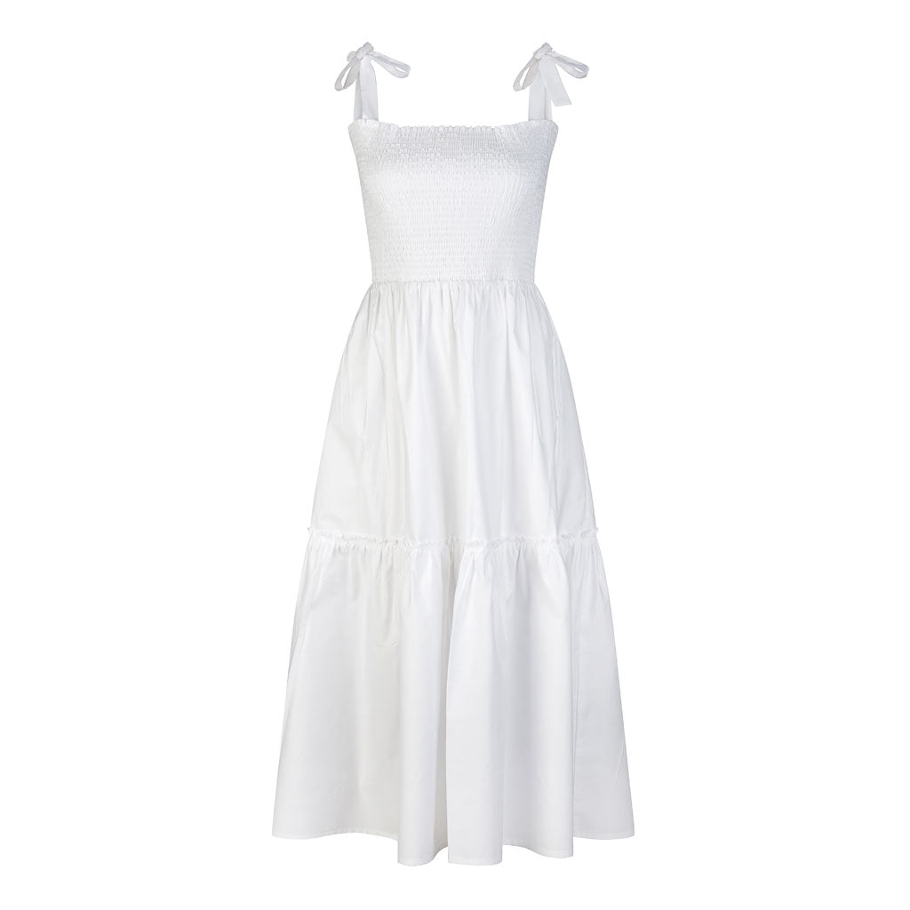 HI LO The Label Zephyr dress in white front