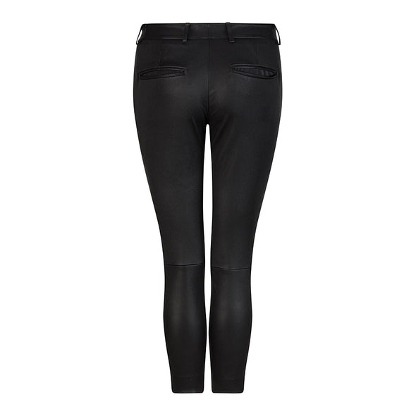 HI LO The Label stretch leather boyfriend pants - back