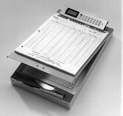 Item 10247   LARGE CLIPBOARD BOX WITH CALCULATOR \n14 1/16 X9 1/16 X2 7/8\nRR8512C-B (02/08)