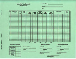Item 10335/MT-Green   MONTHLY TAX DEPOSIT (set of 12)