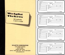 Item 10331   WEIGHT TICKETS SLIP BOOK (200 - 2 part receipts 50 pages of 4 receipts per book) 0810\n