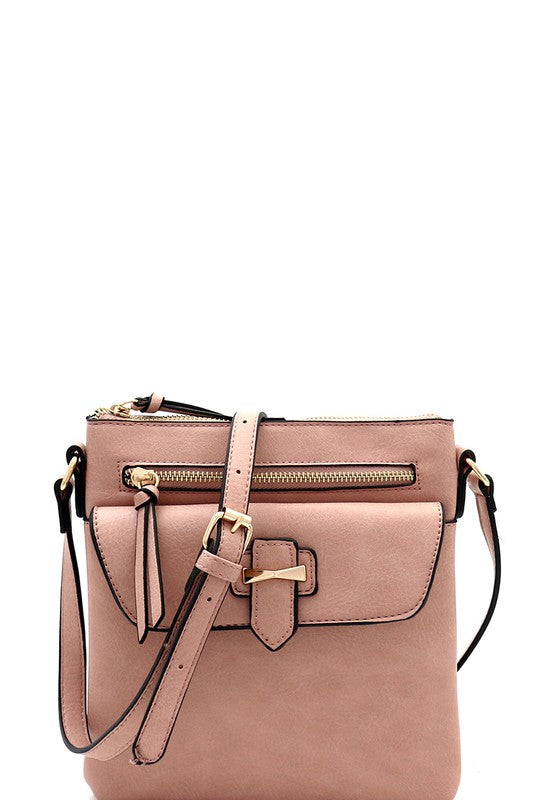 Hardware Accent Multi-Pocket Cross Body