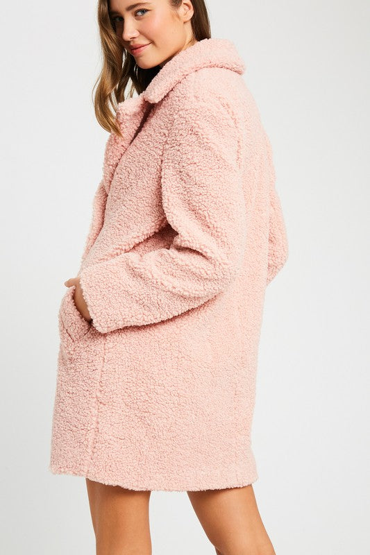 Serene Sleigh Ride Button Down Coat