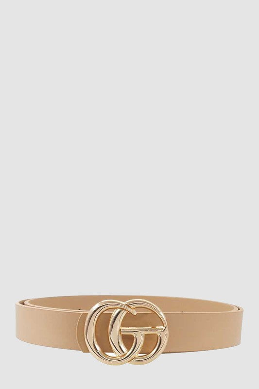 The Best Buckle Belt -Taupe