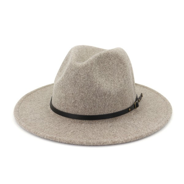 Thin Belted Fedora