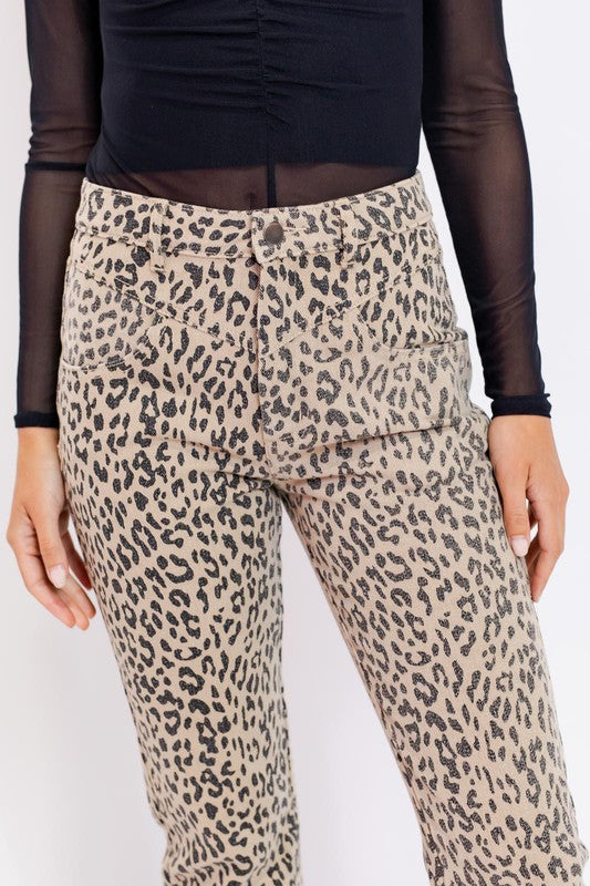 On The Prowl Leopard Trousers