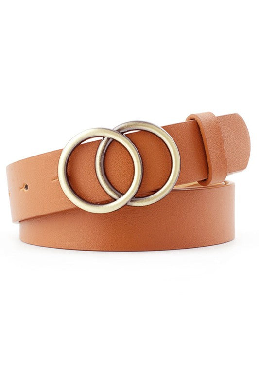Simple Double Ring Belt