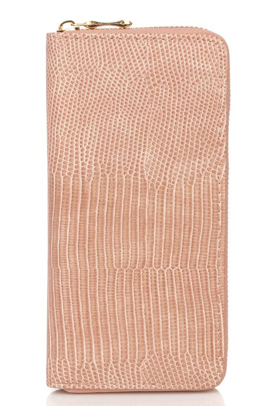 Alligator Print Wallet -Pink