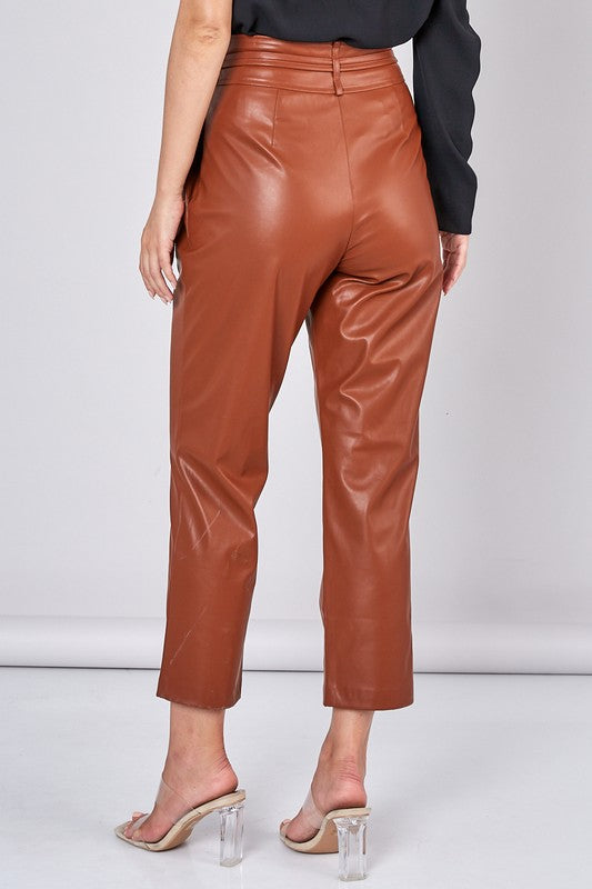 City Slicker Knit Trousers -Brown