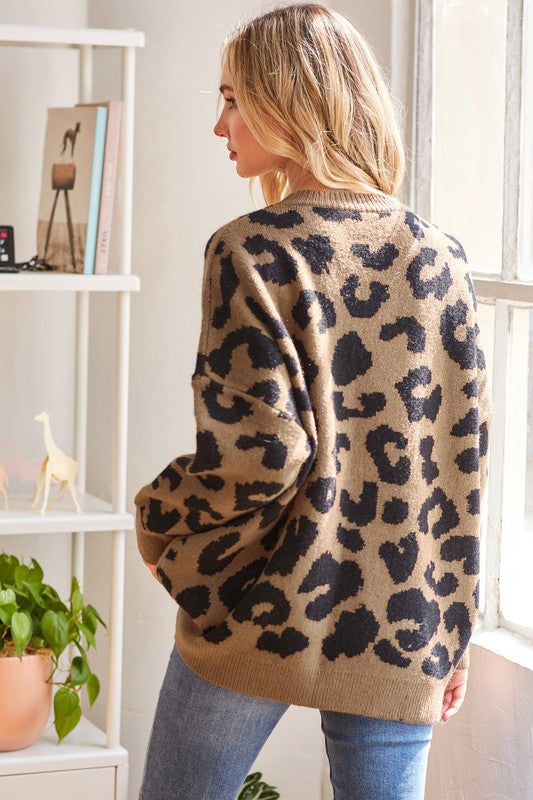 Firce & Fancy Leopard Sweater