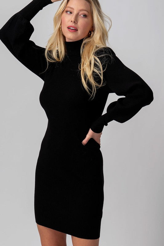 All You've Got Sweater Dress In Black