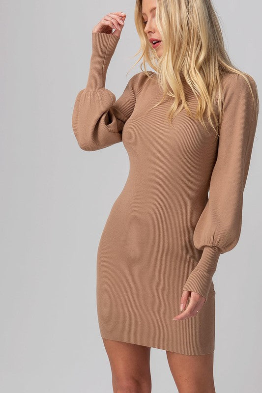 All You've Got Sweater Dress In Camel