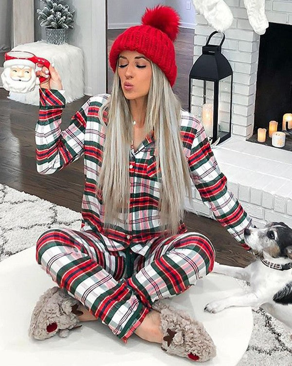 Christmas Plaid PJ Set