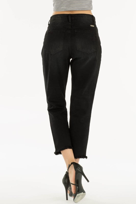 Kancan Black Straight Leg Jean